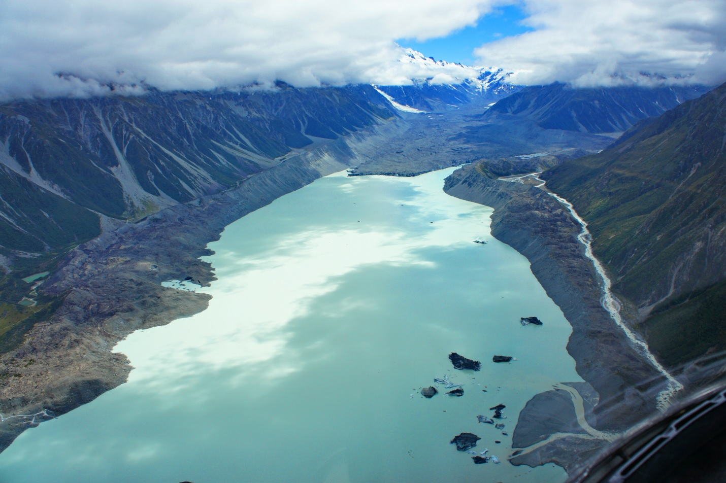 View From Helicopter - Hooker Valley Trek